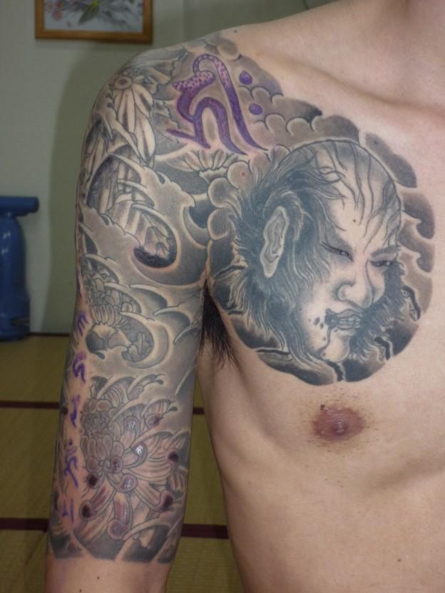 1生首と梵字紫